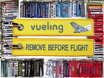 Keyring VUELING airlines Remove Before Flight tag keychain