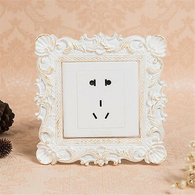 Resin Single Light Switch Surround Socket Finger Plates Panel Covers 8.7x8.7cm