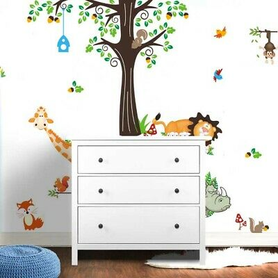 wandtattoo wald sticker tiere zoo spielzimmer kinderzimmer riesig gro xxxxl eur 23 65. Black Bedroom Furniture Sets. Home Design Ideas