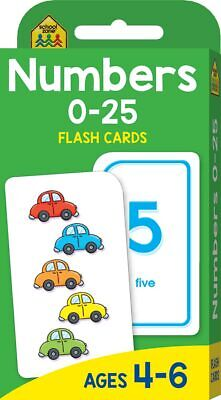 NUMBERS 0 - 25 Flash Cards Suitable for Kids Ages 4 - 6 Early Learning Hinkler