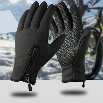 Touch Screen Gloves Windproof Waterproof Warm Mittens Winter Outdoor Cycling US