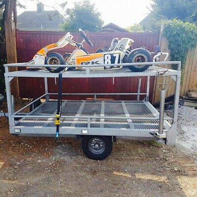 Lightweight Quality Galvanised Twin Kart Trailer With Lighting And Spare Wheel