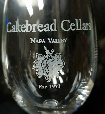 Cakebread Cellars Stemmed Wine Glass Napa Valley California Winery