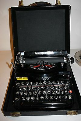 Vintage Remington Rand Model 1 Portable Typewriter With Original Case, excellent