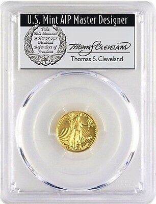2017 $5 Gold Eagle Ms70 Pcgs First Day Of Issue Thomas Cleveland Population 35!