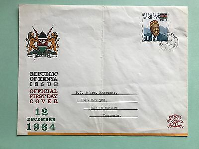 Republic Of Kenya ( 30 C Stamp ) 12 December 1964 Official First Day Cover