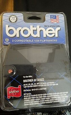 NEW Brother Typewriter Correctable 1030 Film Ribbons 1230 Black 2 Pack