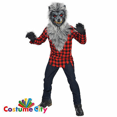 Childs Boys Hungry Howler Werewolf Halloween Horror Fancy Dress Costume