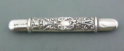 Victorian Antique English Solid Silver Needle Case