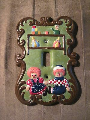 Vintage Raggedy Ann & Andy Wall Light Switch Cover
