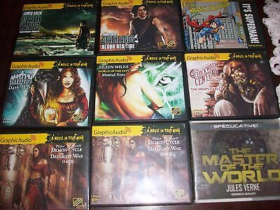 Lot of 9 Science Fiction / Fantasy Audio Books on CD