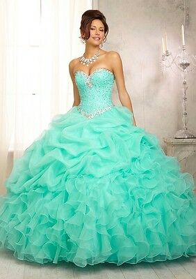 VIZCAYA BY MORI LEE 88083 RUFFLED BALL GOWN Quinceanera Dress SIZE 4