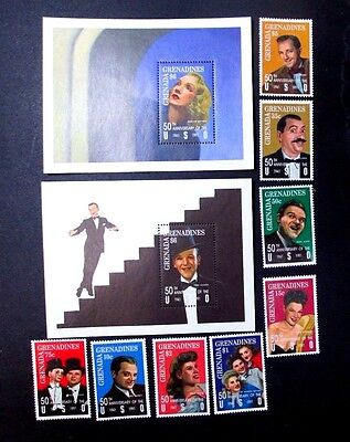 Grenada Grenadines,1992,  Uso Entertainers Complete(10 Values)Very Fine Mint Nh