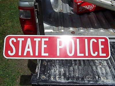 Vintage Connecticut State Police Placard