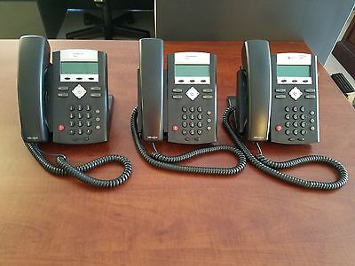 Lot of 3 Polycom SoundPoint IP 335 Telephones (No power supplies)