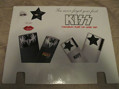 Kiss Promotional Promo Display Sign Ad Fragrance Gene Simmons Paul Stanley