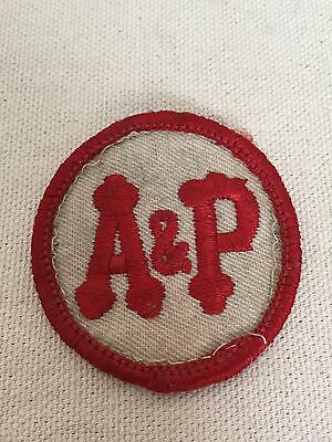 Vintage A&P Logo Uniform Patch Grocery Food Store Pre 1976