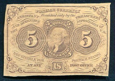 Fr. 1230 5 Five Cents First Issue Fractional Currency Very Fine+
