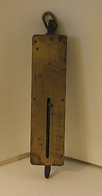 Antique Detecto NY 100 LB Capacity Hanging Brass Spring Scale Measure Weigh
