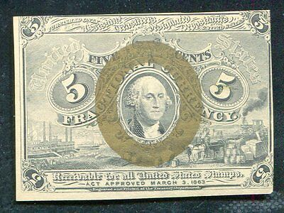 Fr. 1233 5 Five Cents Second Issue Fractional Currency Unc
