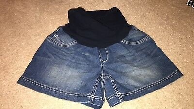 NWOT Oh Baby Motherhood maternity Denim Shorts Jean Medium M