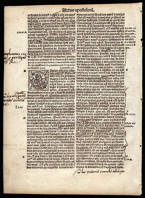 The Acts of The Apostles 8 New Testament 1514 Bible Leaf Founding of The Church