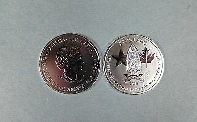 2015 Canada 1/2 Oz Pure Silver - Usa/canada 1St Special Service Force $2.00 Coin