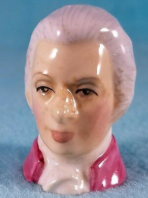 FRANCESCA Staffordshire Character Head Thimble - MOZART - Composers Collection