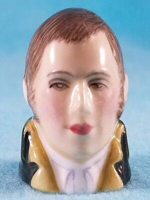 FRANCESCA Staffordshire Character Head Thimble - ROBBIE BURNS - Literary Collect