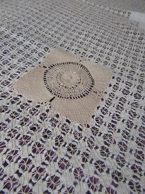 Stunning Vintage Reticella Drawn Thread Bed/Table Cover