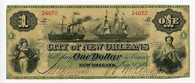 1868 $1 The City of New Orleans, LOUISIANA Note