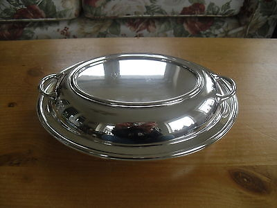 "James Dixon Silver Plated Lidded Buffet/Entree Dish - 11 1/8""(28.25cms)"