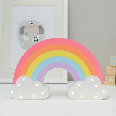 Up In Lights Rainbow LED Light Up Decoration Night Light Wall Mountable Girls