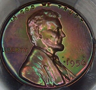 1956 1C RB (Proof) Lincoln Wheat Cent PCGS PR65+RB Watermelon Toned!