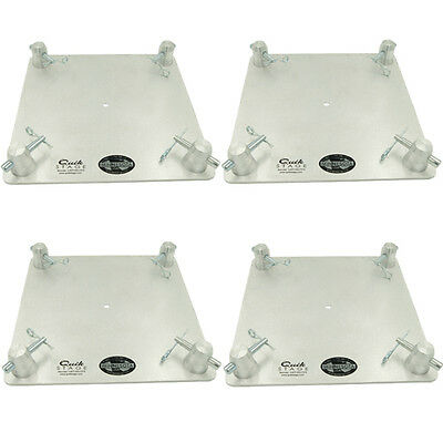 """Set of Four 12"""" x 12"""" Aluminum Truss Base or Top Plate Fits Global Truss F34 SQ"""