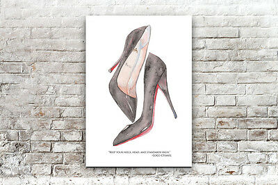 Inspirational/motivational Coco Chanel Shoes Quote ..a4 Poster/print  Wall Art