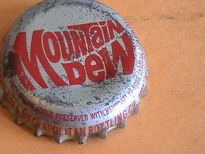 Mountain Dew cork lined soda bottle cap Detroit MI