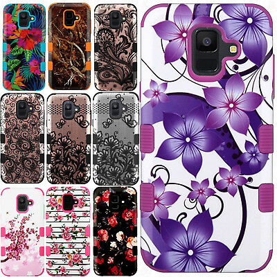 For Samsung Galaxy A6 2018 IMPACT TUFF HYBRID Hard Skin Phone Case Cover