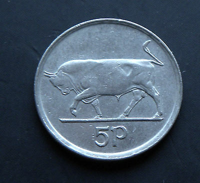 5 Pence Ireland 1996, Bull - Small Type #5297