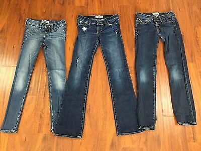 Girls Sz 12 Abercrombie Kids Jeans Lot Of 3 Pairs