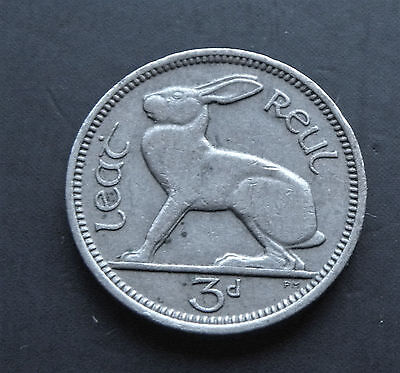 3 Pence Ireland 1962, Rabbit #5299a