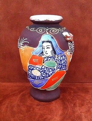 """Small Miniature 5"""" Hand Painted Urn / Vase Made In Japan ~ Free Shipping!"""