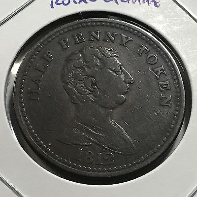 1812  Great Britain Royal Exchange One Half Penny Large Token