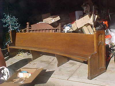 Antique Solid Oak Church Pew - 11 Foot Long!! BEST OFFER!!   Must Sell!!