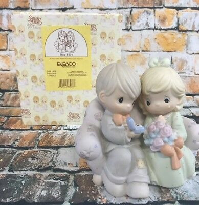 Precious Moments Say I Do Proposal Engagement Marriage Figurine 261149 1996