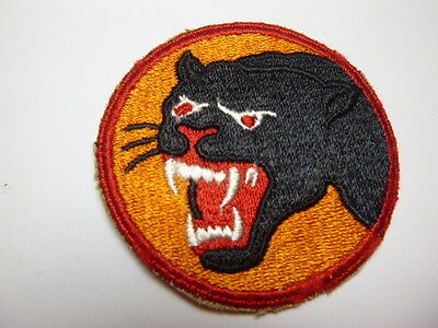 A     WW 2 U S Army  66th    Division Cut Edge Snow  Back Patch