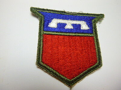 A     WW 2 U S Army  76th  Division Cut Edge Snow  Back Patch