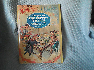 McLoughlin 1897 Pretty Village Antique Toy Town Buildings to Assemble Reproduct
