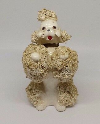 Vintage Collectible Ceramic Figurine Dog Spaghetti Poodle Animals Japan 1950s