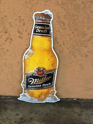 Rare Miller High Life Beer Bottle Embossed Lithograph Tin Sign